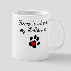 Home Is Where My Maltese Is Mugs