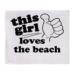 Personalize This Girl Throw Blanket