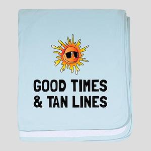 Good Times Tan Lines baby blanket