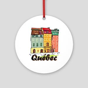 Quebec City Ornament (round)