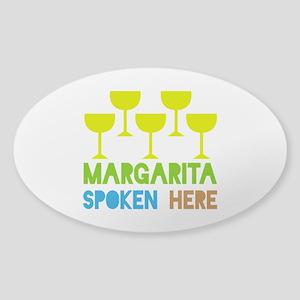Margarita Spoken Here Sticker (Oval)