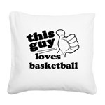 Personalize This Guy Square Canvas Pillow