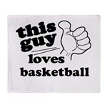Personalize This Guy Throw Blanket