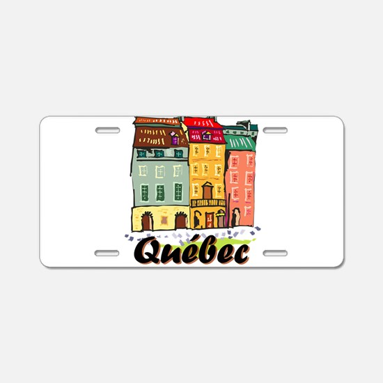 Quebec city Aluminum License Plate