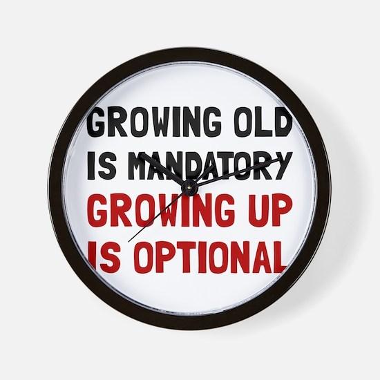 Growing Up Optional Wall Clock