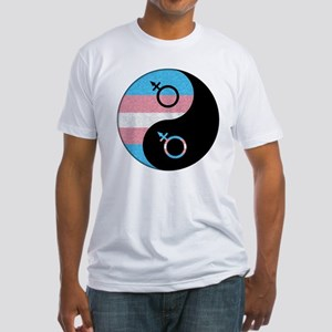 Transgender Yin and Yang Fitted T-Shirt