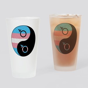 Transgender Yin and Yang Drinking Glass