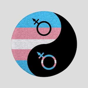 "Transgender Yin and Yang 3.5"" Button"