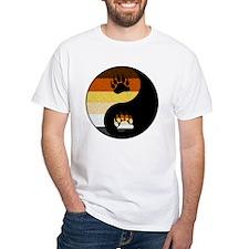Bear Yin and Yang White T-Shirt