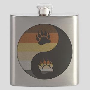 Bear Yin and Yang Flask