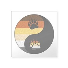 Bear Yin and Yang Square Sticker 3