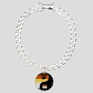 Bear Yin and Yang Charm Bracelet, One Charm