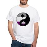 Asexual Yin and Yang White T-Shirt