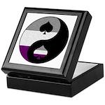 Asexual Yin and Yang Keepsake Box