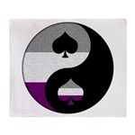 Asexual Yin and Yang Throw Blanket