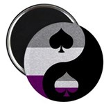 Asexual Yin and Yang Magnet