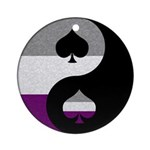 Asexual Yin and Yang Ornament (Round)