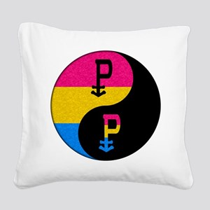 Pansexual Yin and Yang Square Canvas Pillow