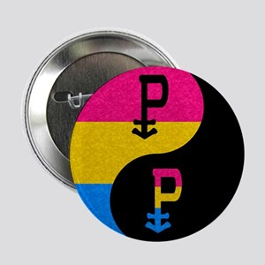 """Pansexual Yin and Yang 2.25"""" Button"""