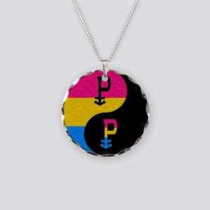 Pansexual Yin and Yang Necklace Circle Charm