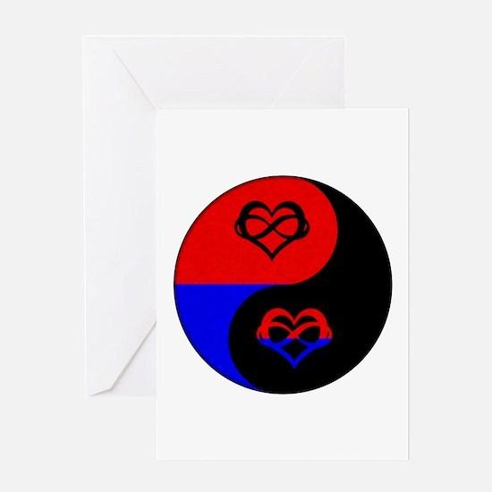 Polyamorous Yin and Yang Greeting Card