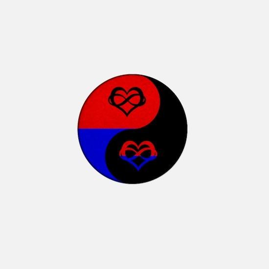 Polyamorous Yin and Yang Mini Button