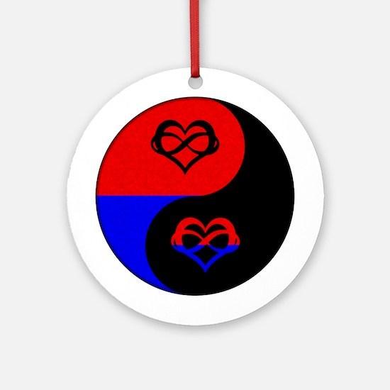 Polyamorous Yin and Yang Ornament (Round)