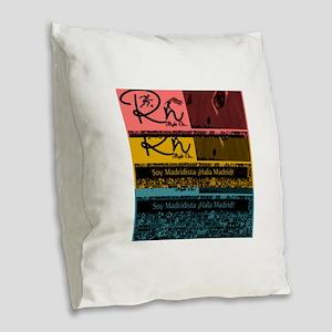 RighOn Madridista Burlap Throw Pillow