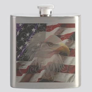 American Eagle Flag Flask