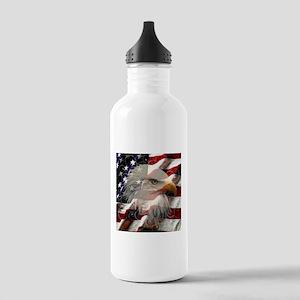 American Eagle Flag Water Bottle