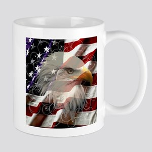 American Eagle Flag Mugs