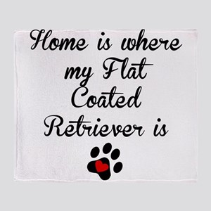 Home Is Where My Flat-Coated Retriever Is Throw Bl