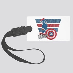 Captain America Large Luggage Tag