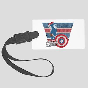 Captain America Large Luggage Tag