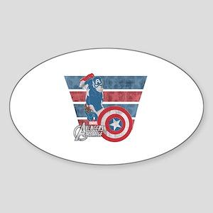 Captain America Sticker (Oval)