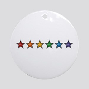 Rainbow Stars Ornament (Round)