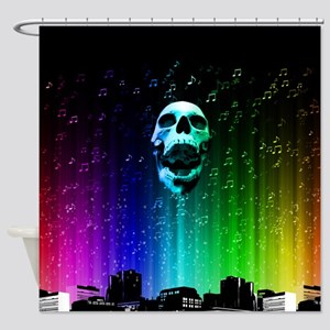 City of Heavy Metal Shower Curtain