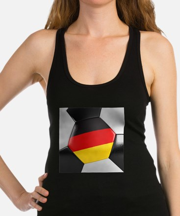Germany Soccer Ball Racerback Tank Top