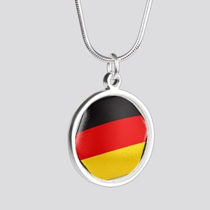 Germany Soccer Ball Silver Round Necklace