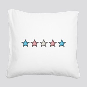 Transgender Stars Square Canvas Pillow