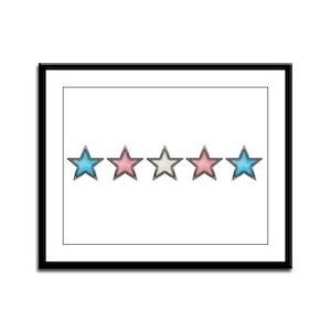 Transgender Stars Framed Panel Print