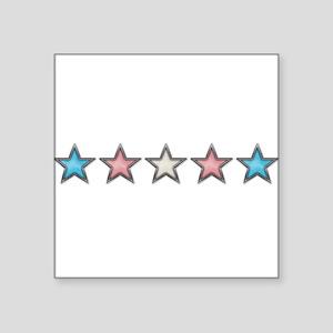 "Transgender Stars Square Sticker 3"" x 3"""