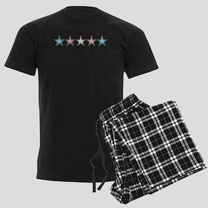 Transgender Stars Men's Dark Pajamas