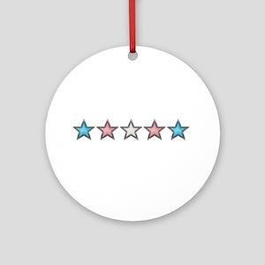 Transgender Stars Ornament (Round)