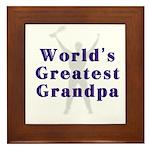 World's Greatest Grandpa Framed Tile