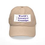 World's Greatest Grandpa Cap (White or Khaki)