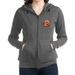 Skull and Red Rose Women's Zip Hoodie