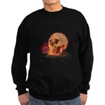 Skull and Red Rose Sweatshirt