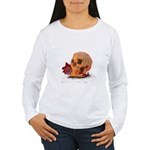 Skull and Red Rose Long Sleeve T-Shirt