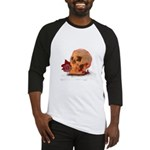 Skull and Red Rose Baseball Jersey